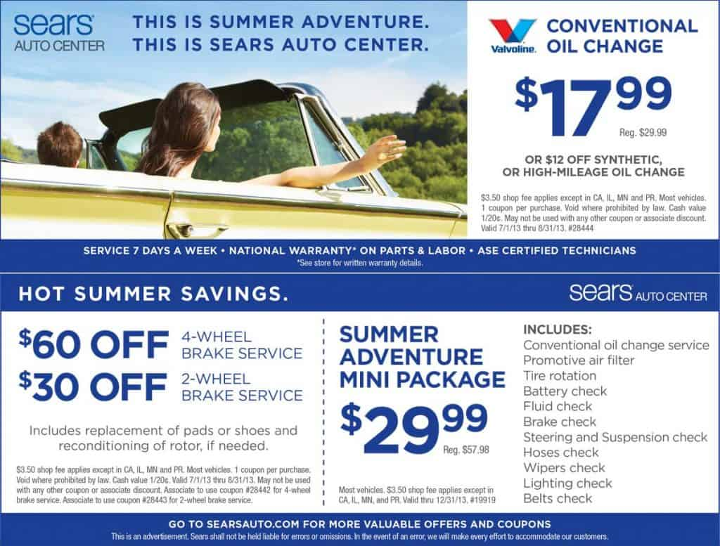 Sears Auto Center Coupons