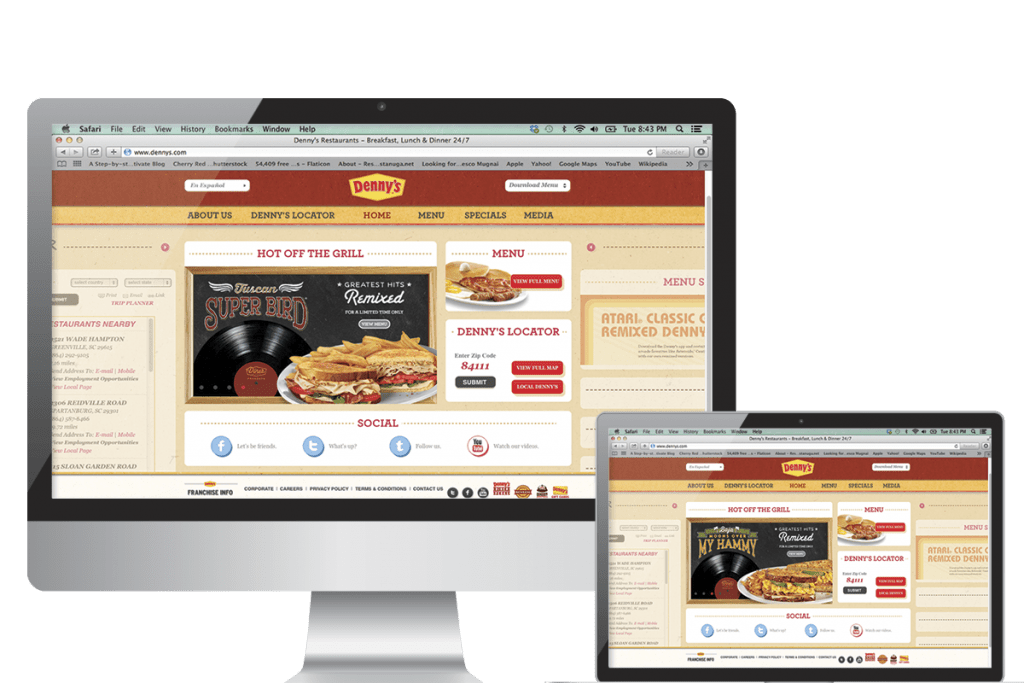 Denny's Web Banners