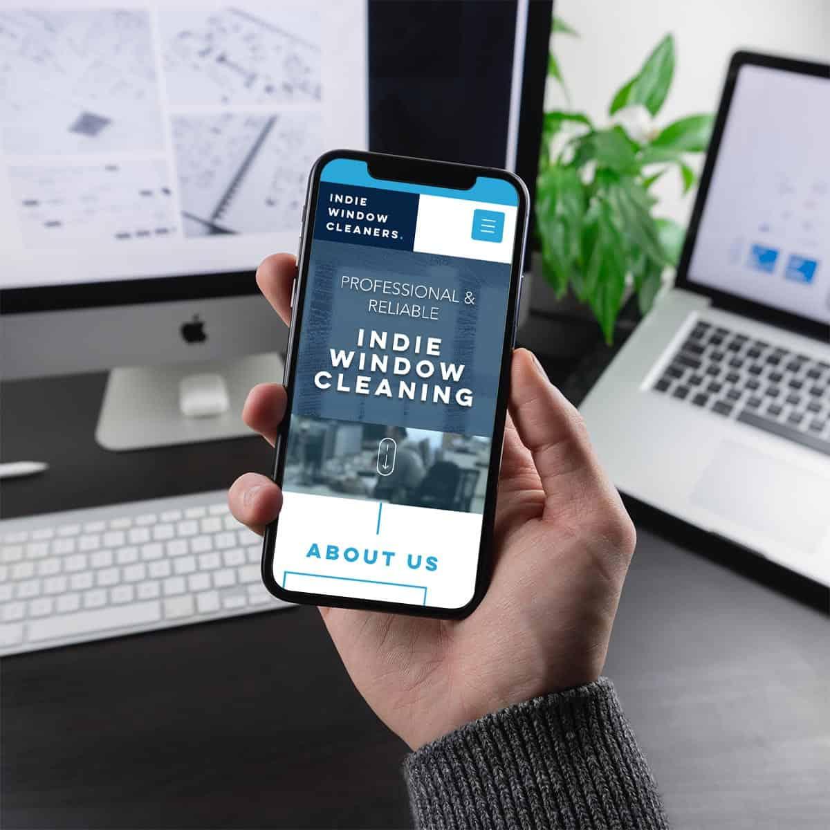 Indie Window Cleaners Mobile Website